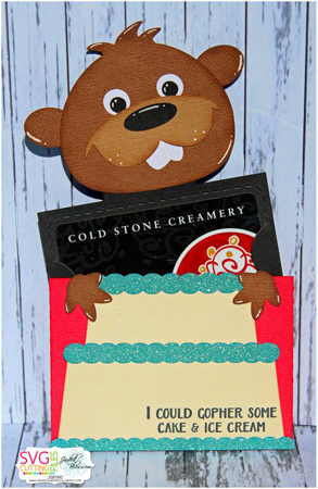 Gopher Cake Slider Card