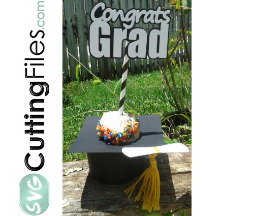 Graduation Cap Cupcake Holder