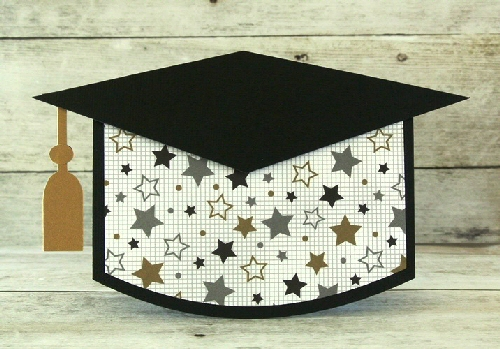 Grad Cap Shaped Card