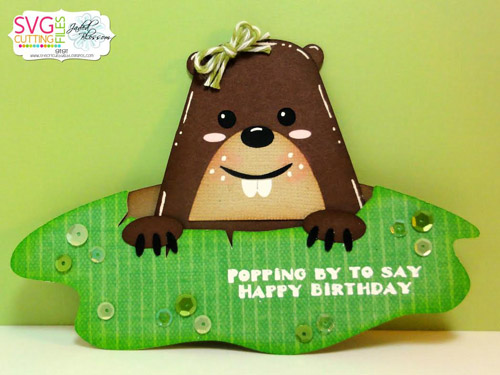 Groundhog / Mole Slider Card