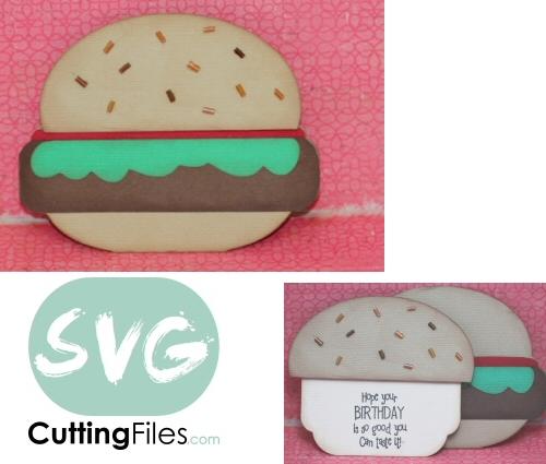 Burger / Hamburger Slider Card