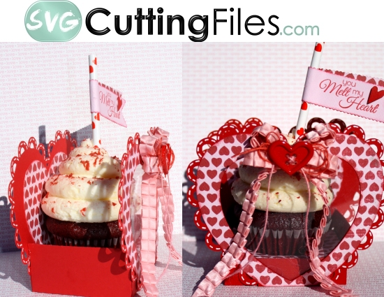 Heart Cupcake Box Holder