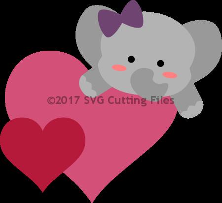 Heart Hugger Elephant