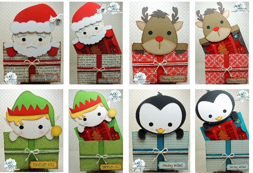 Holiday Present Slider card Set