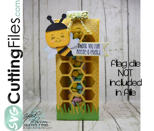 Honeycomb with Bee Tube Holder