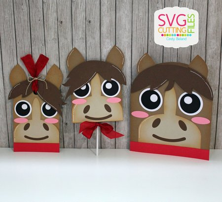 Horse Card - Hang Tag and Lollipop Set