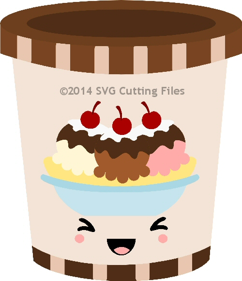 Kawaii Ice Cream Gallon