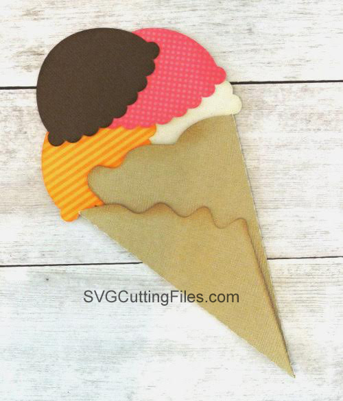 Cone Shaped Folded Card