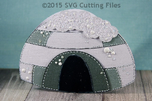 Igloo Shaped Card