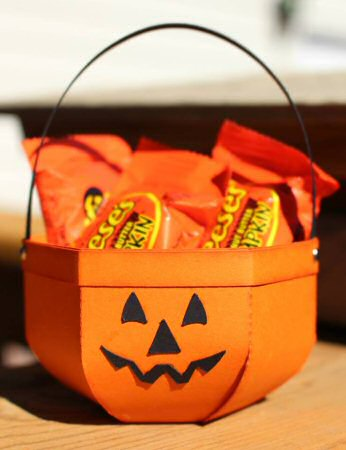 Jack O Lantern Container Treat Box
