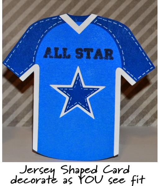 Jersey Shaped Card