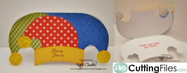 Jester Hat Shaped Card