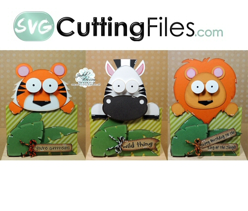Jungle Animal Slide Card Set