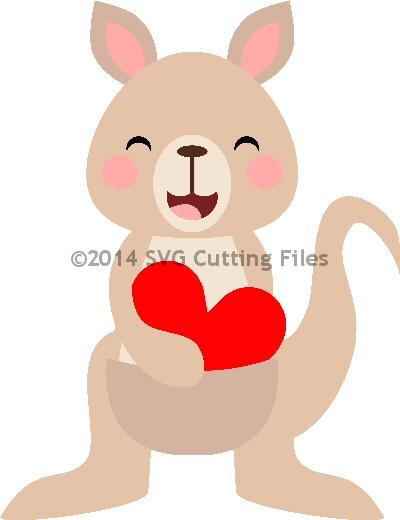 Kangaroo Heart Pouch