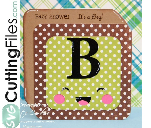Kawaii Block Shaped Card