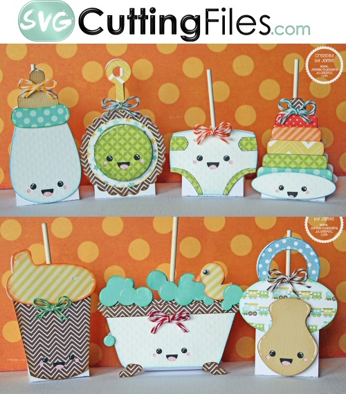 Kawaii Baby Things Lollipop Covers