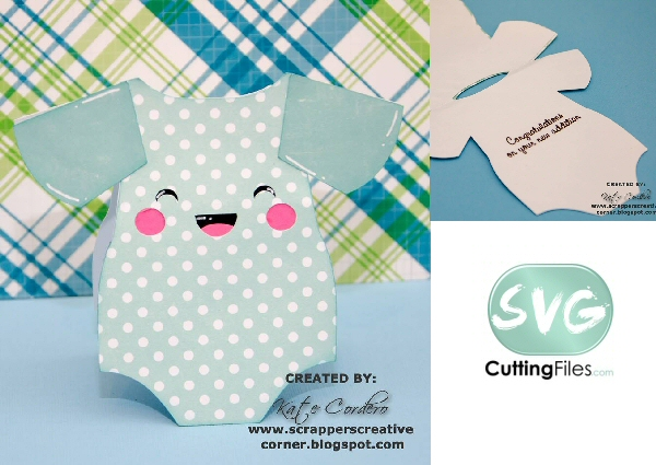 Kawaii Onesie Shaped Card