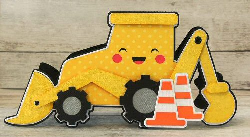 Back Hoe Shaped card