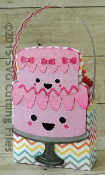 Kawaii Birthday Cake Bag