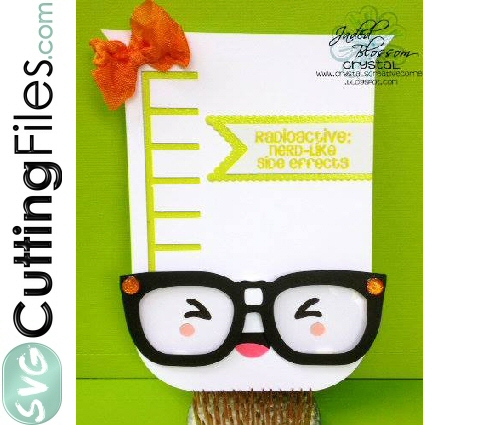 Kawaii Beaker Shaped Card