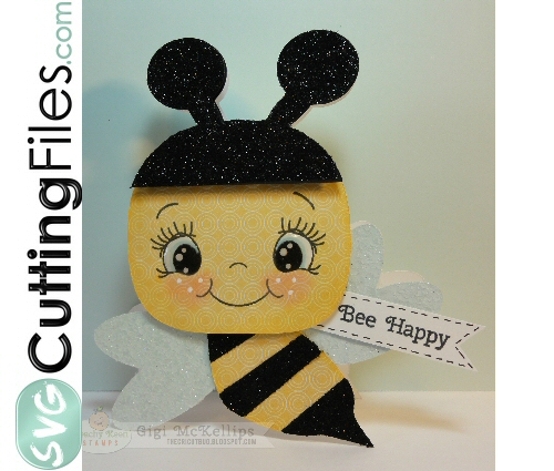 Kawaii Bee Shaped Card