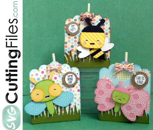 Kawaii Bug Lollipop Covers