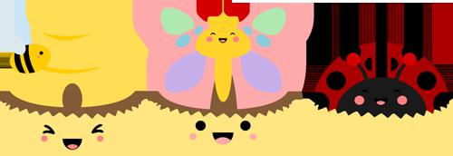 Kawaii Bug Cupcakes