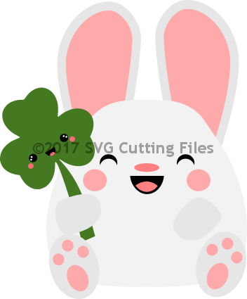 Kawaii Bunny with Shamrock