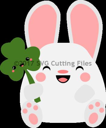 Kawaii Bunny with Shamrock