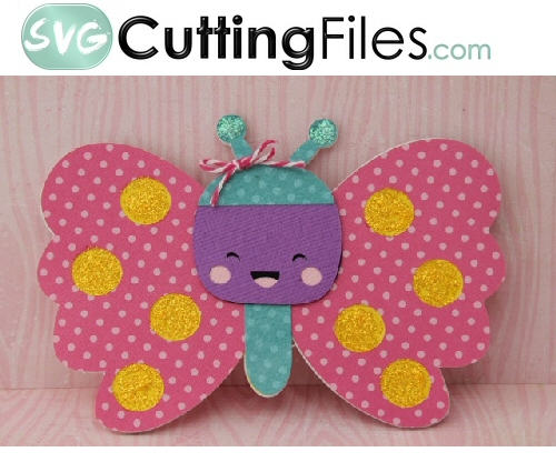 Kawaii Butterfly Shaped Card