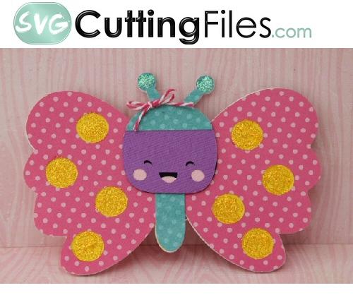 Kawaii Butterfly Shaped Card