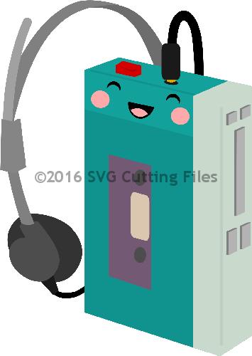 Kawaii Cassette Player