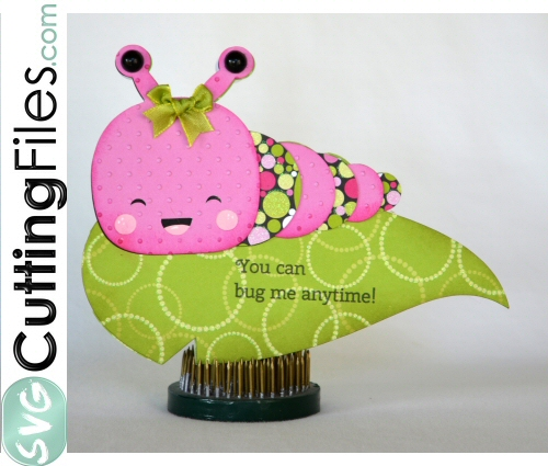 Kawaii Caterpillar Shaped Card