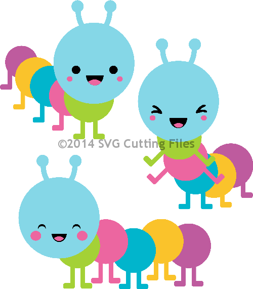 Kawaii Caterpillars
