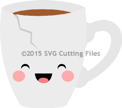 Kawaii Chipped Teacup