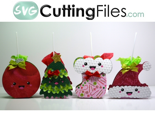Kawaii Christmas Lollipop Covers