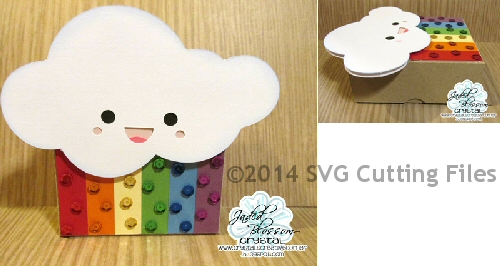 Kawaii Cloud Mini NOTE CARD Box