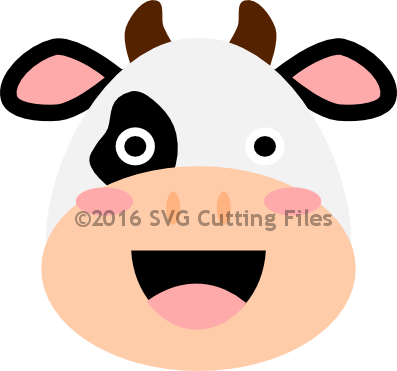 Kawaii Cow Head