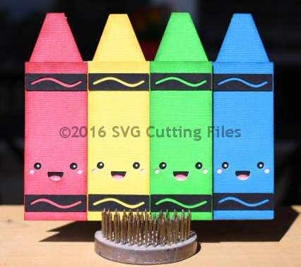 Kawaii Crayons Card