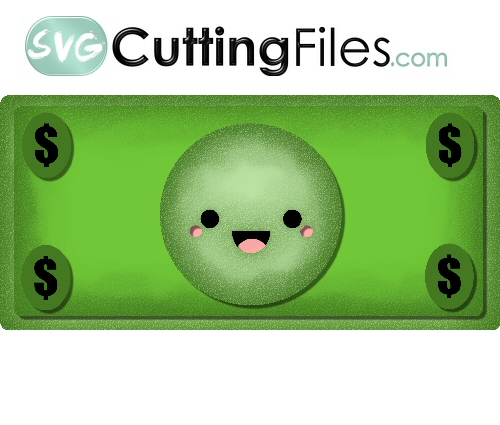 Kawaii Dollar Bill