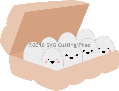 Kawaii Egg Carton