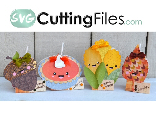 Kawaii Fall Lollipop Covers