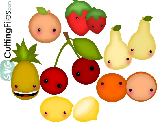 Kawaii Fruit SET