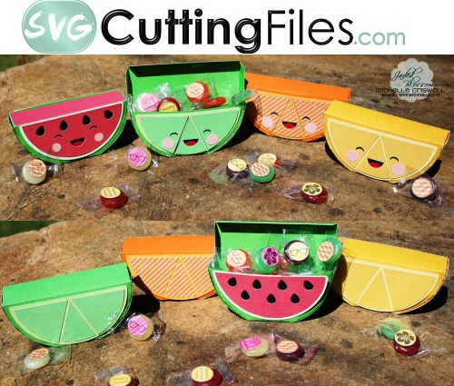Kawaii Fruit Wedge Boxes