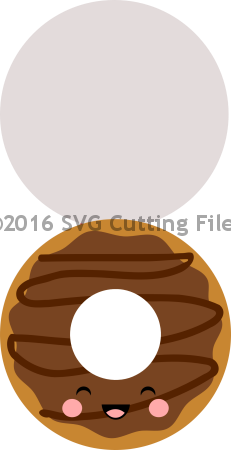 Kawaii Glazed Donut Shaped Card