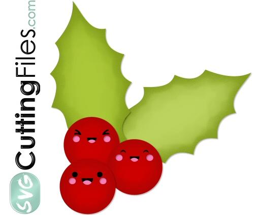 Kawaii Holly Berries