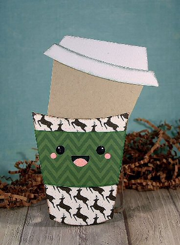 Kawaii Latte Slide Card