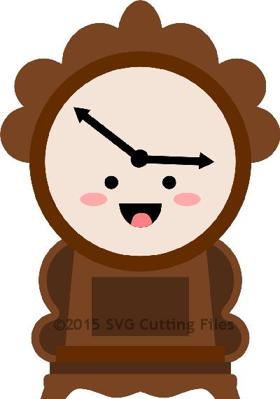 Kawaii Mantle Clock