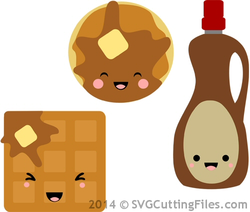 Kawaii Pancakes and Waffles