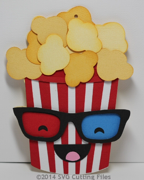 Kawaii Popcorn Gift Card Holder